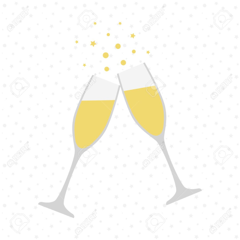 91511802-two-champagne-glasses-cheers-celebration-holiday-toast-vector-illustration