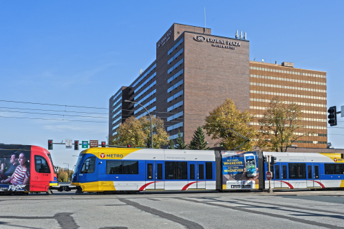 Crowne plaza light rail